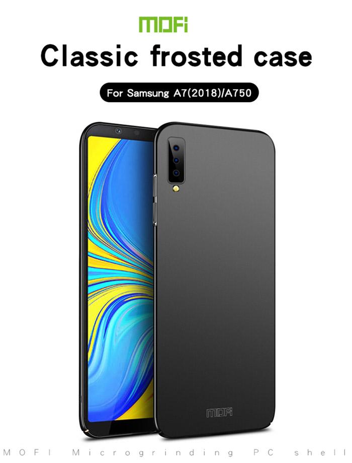 Ốp lưng Galaxy A7 2018 Mofi Fitted Case 360 siêu mỏng, lưng mịn 3