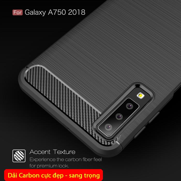 Ốp lưng Galaxy A7 2018 Viseaon Rugged Armor nhựa mềm chống sốc 1