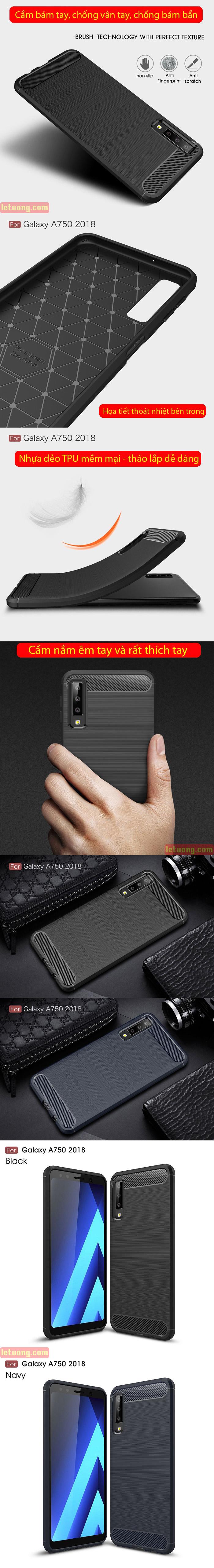 Ốp lưng Galaxy A7 2018 Viseaon Rugged Armor nhựa mềm chống sốc 4