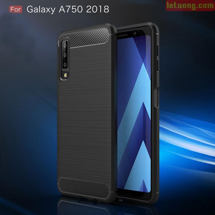 Ốp lưng Galaxy A7 2018 Viseaon Rugged Armor nhựa mềm chống sốc 2