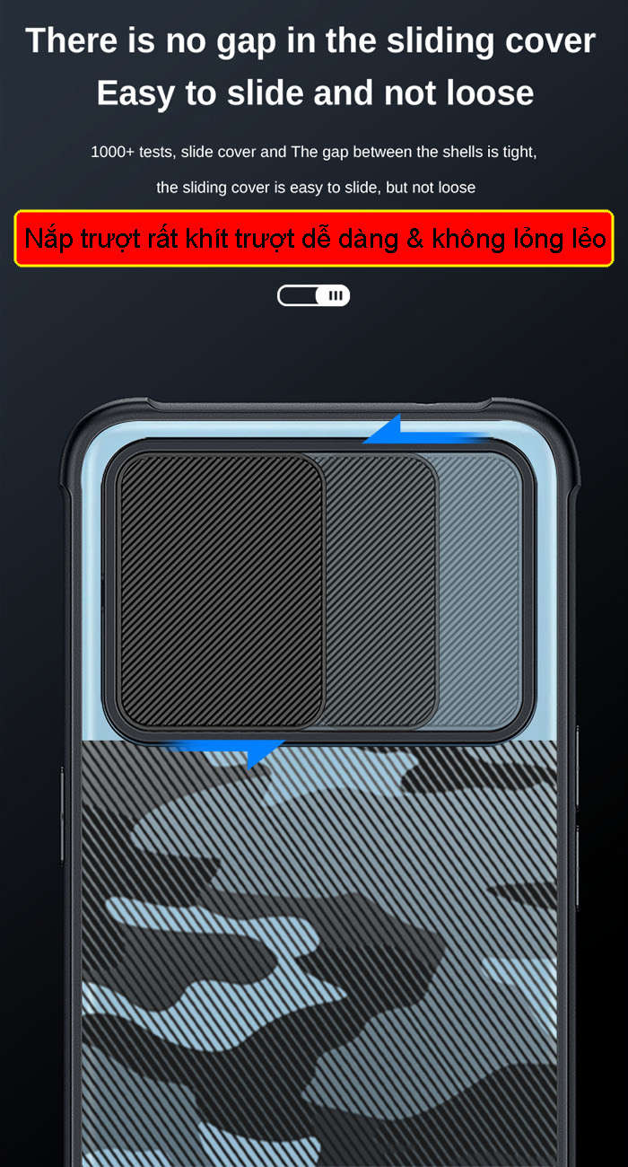 Ốp lưng Galaxy A72, A72 5G Rzants Camo bảo vệ camera 1