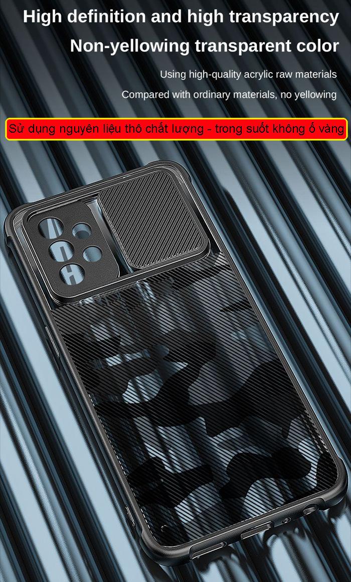 Ốp lưng Galaxy A72, A72 5G Rzants Camo bảo vệ camera 3
