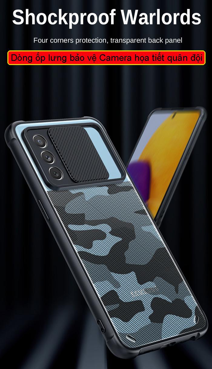 Ốp lưng Galaxy A72, A72 5G Rzants Camo bảo vệ camera 2
