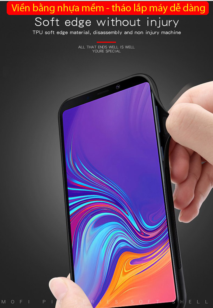 Ốp lưng Galaxy A9 2018 Mofi Pin Series vân da đẹp mắt sang trọng 3