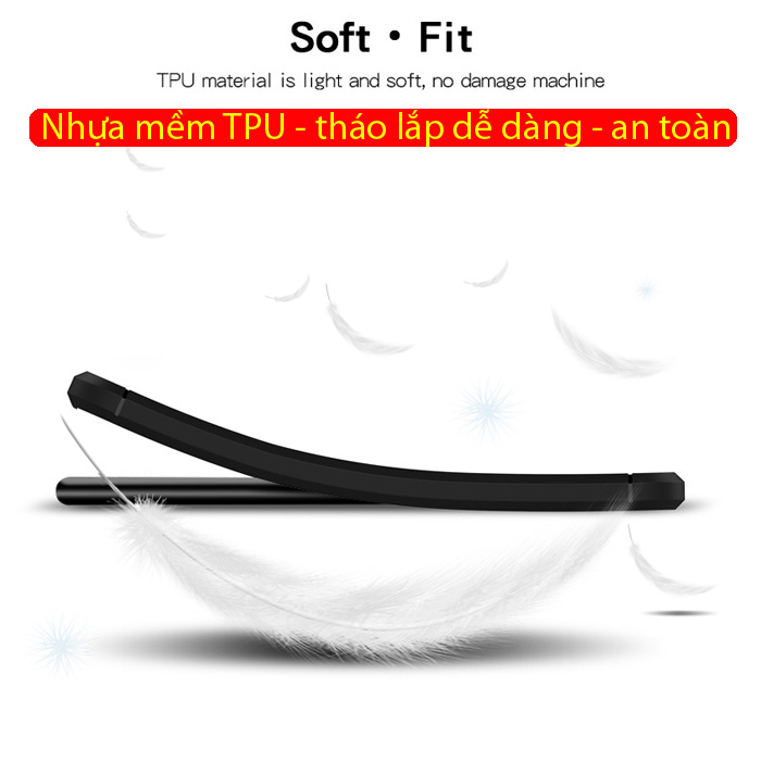 Ốp lưng Note 10 Plus Mofi Shen Du Carbon Fiber nhựa mềm - chống vân tay 2