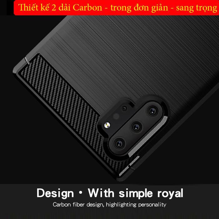 Ốp lưng Note 10 Plus Mofi Shen Du Carbon Fiber nhựa mềm - chống vân tay 1