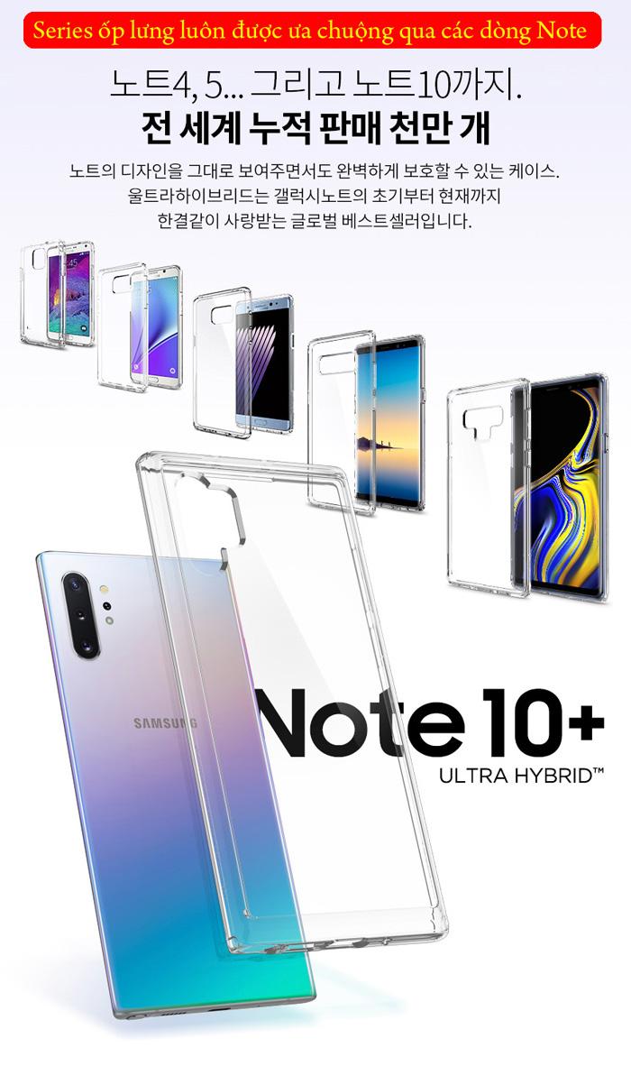 Ốp lưng Galaxy Note 10 Plus Spigen Ultra Hybrid trong suốt ( Hàng USA ) 1