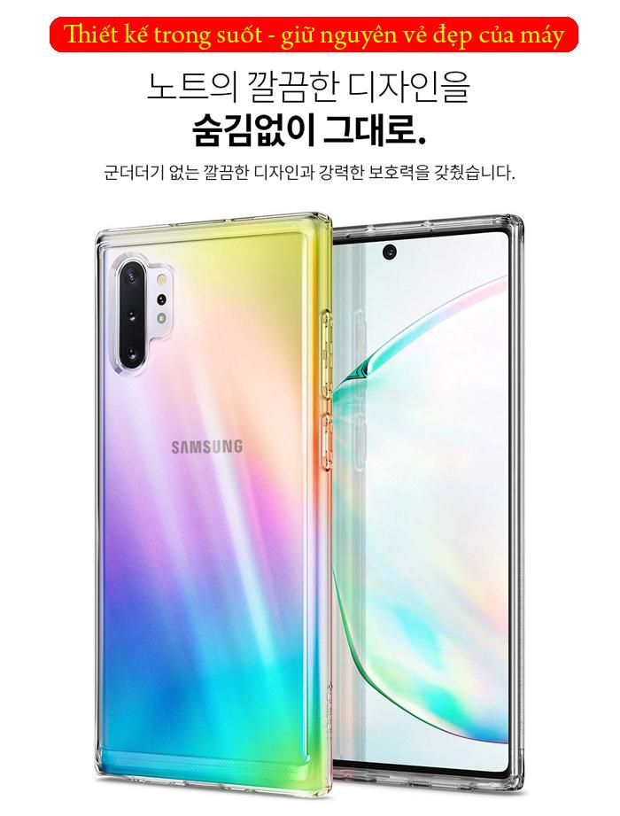 Ốp lưng Galaxy Note 10 Plus Spigen Ultra Hybrid trong suốt ( Hàng USA ) 3