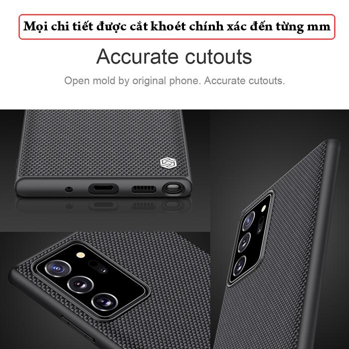 Ốp lưng Note 20 Ultra / 5G  Nillkin Texture 3D Case sợi Nylon siêu mỏng 3