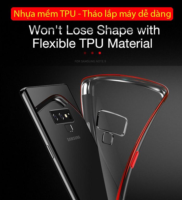 Ốp lưng Galaxy Note 9 Cafele Plating Case viền mạ Crom sáng bóng 2