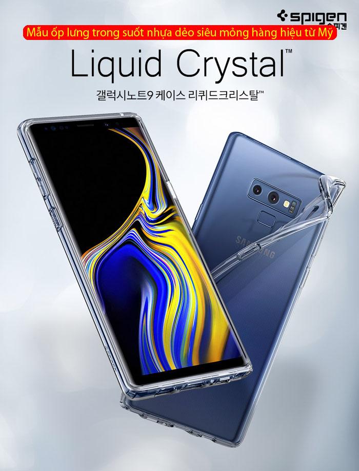 Ốp lưng Note 9 Spigen Liquid Crystal trong suốt - nhựa dẻo ( hàng USA ) 1