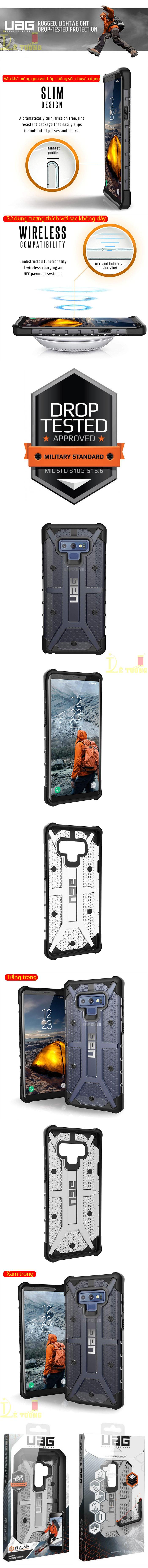 Ốp lưng Galaxy Note 9 UAG Plasma Armor trong suốt, chống sốc từ USA 3