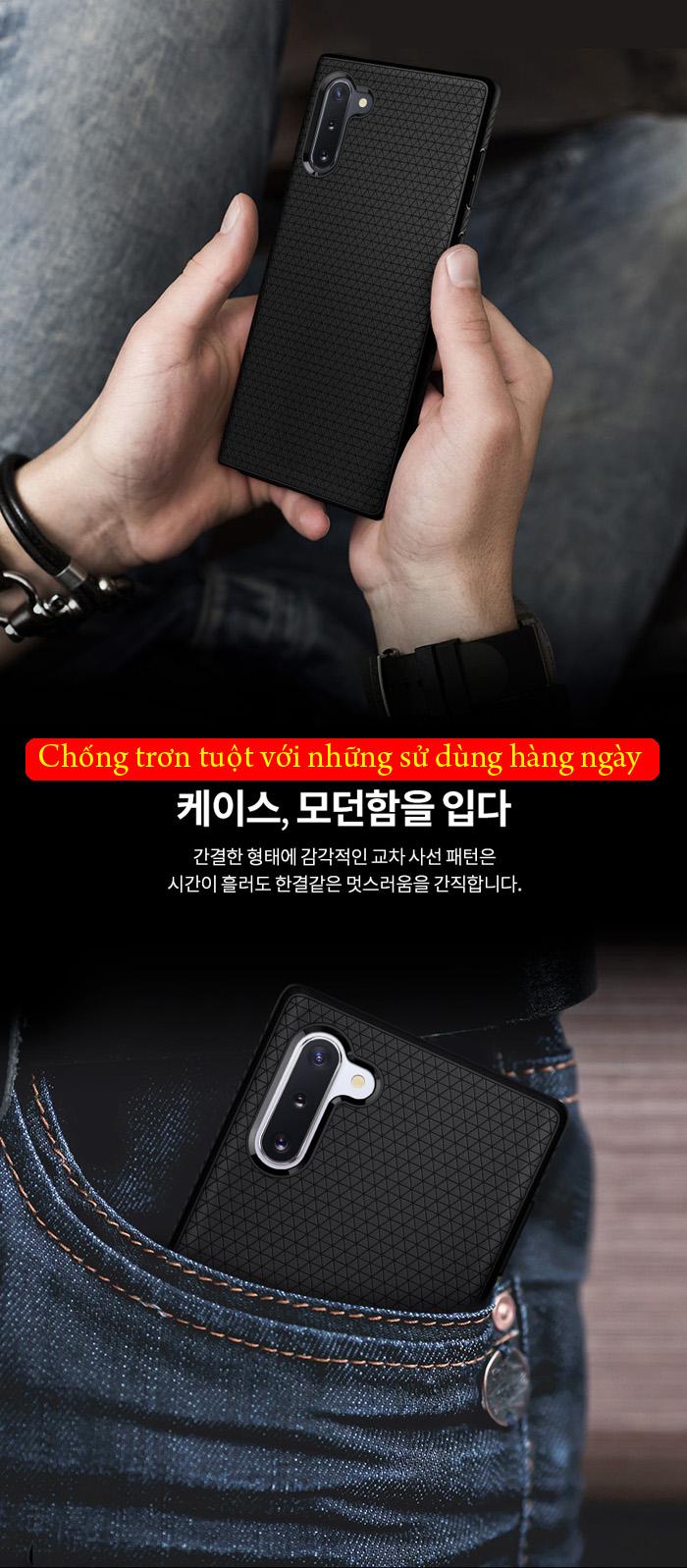 Ốp lưng Galaxy Note 10 Spigen Liquid Air chống trơn tuột ( hàng USA ) 2