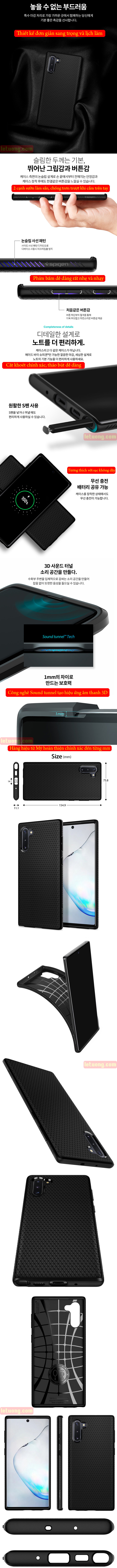 Ốp lưng Galaxy Note 10 Spigen Liquid Air chống trơn tuột ( hàng USA ) 5