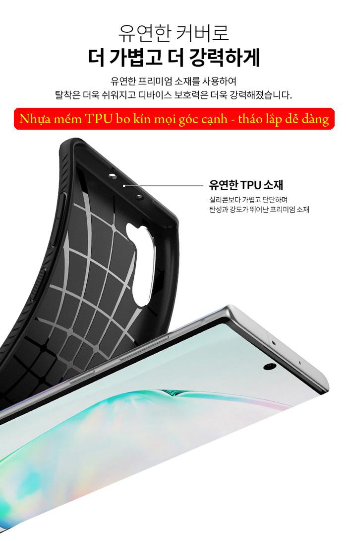 Ốp lưng Galaxy Note 10 Spigen Liquid Air chống trơn tuột ( hàng USA ) 3