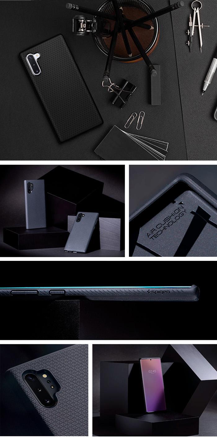 Ốp lưng Galaxy Note 10 Spigen Liquid Air chống trơn tuột ( hàng USA ) 4