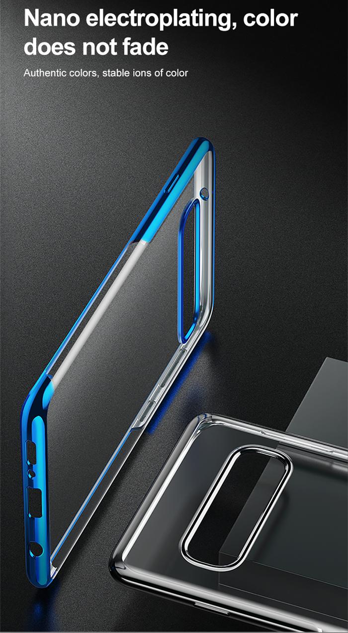 Ốp lưng Galaxy S10 Baseus Plating Case viền mạ Crom sáng bóng 1