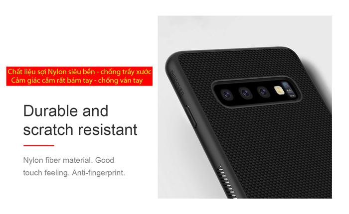 Ốp lưng Galaxy S10 Plus Nillkin Texture 3D Case sợi Nylon siêu mỏng 1