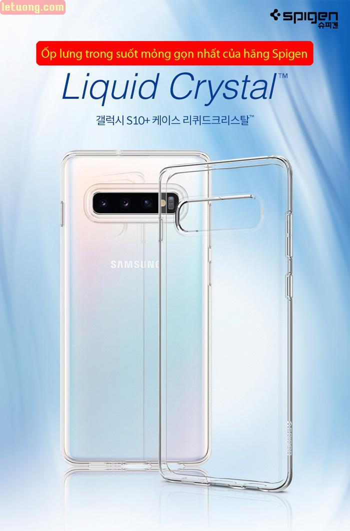 Ốp lưng Galaxy S10 Plus Spigen Liquid Crystal trong suốt ( Hàng USA ) 1