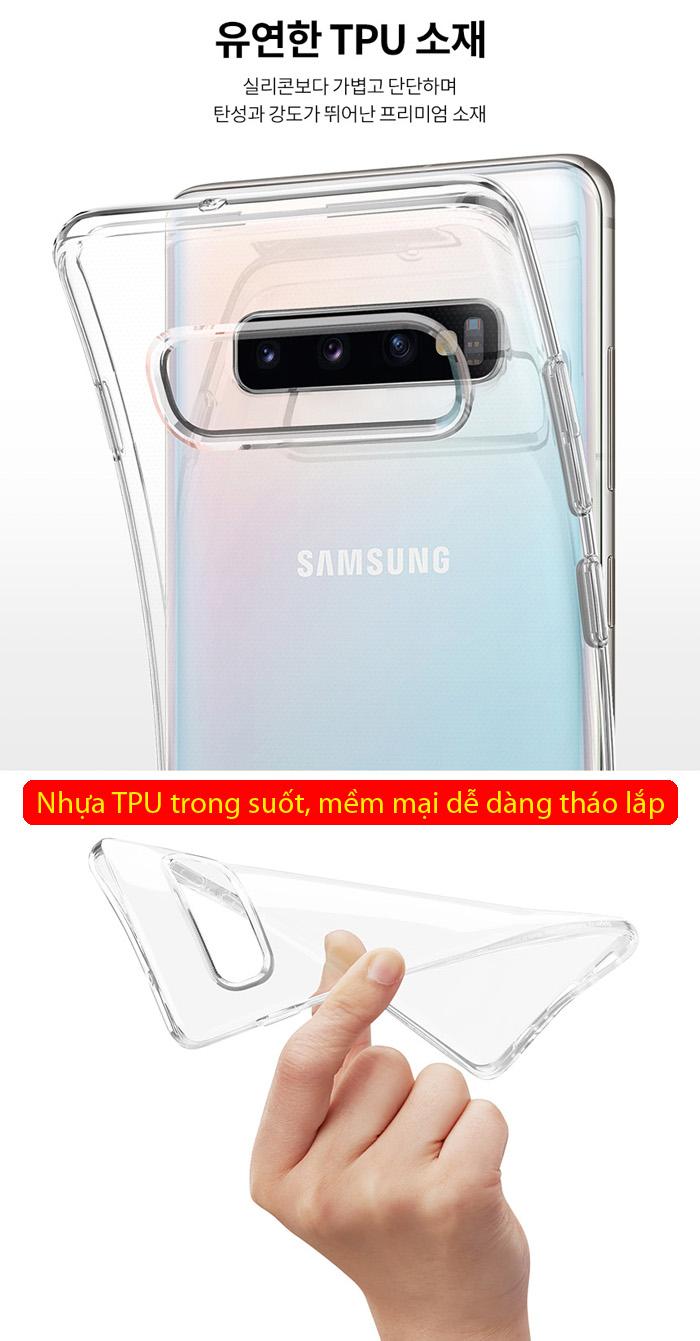 Ốp lưng Galaxy S10 Spigen Liquid Crystal trong suốt ( Hàng USA ) 1