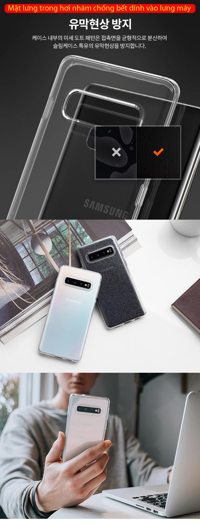 Ốp lưng Galaxy S10 Spigen Liquid Crystal trong suốt ( Hàng USA ) 2