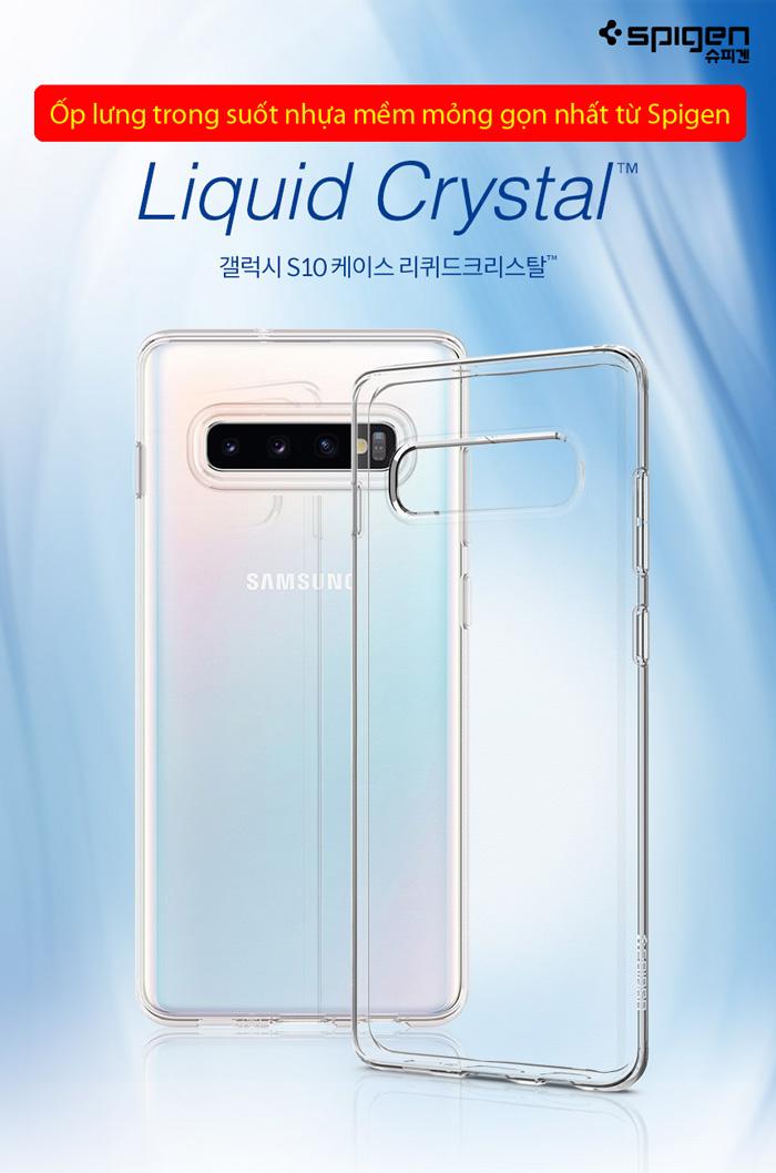 Ốp lưng Galaxy S10 Spigen Liquid Crystal trong suốt ( Hàng USA ) 3