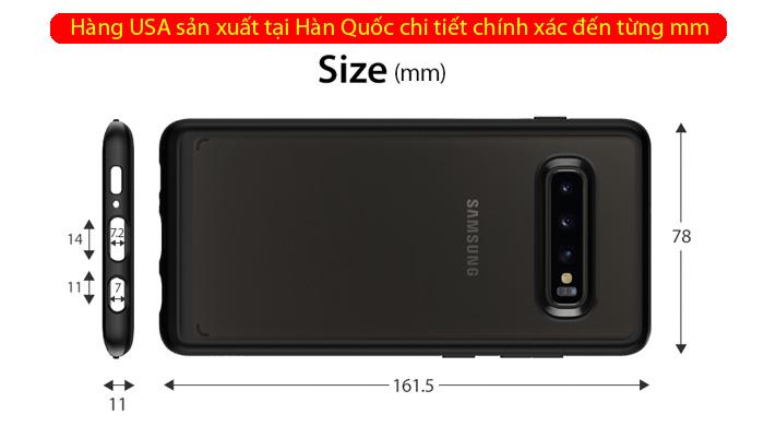 Ốp lưng Galaxy S10 Spigen Ultra Hybrid trong suốt ( Hàng USA ) 3