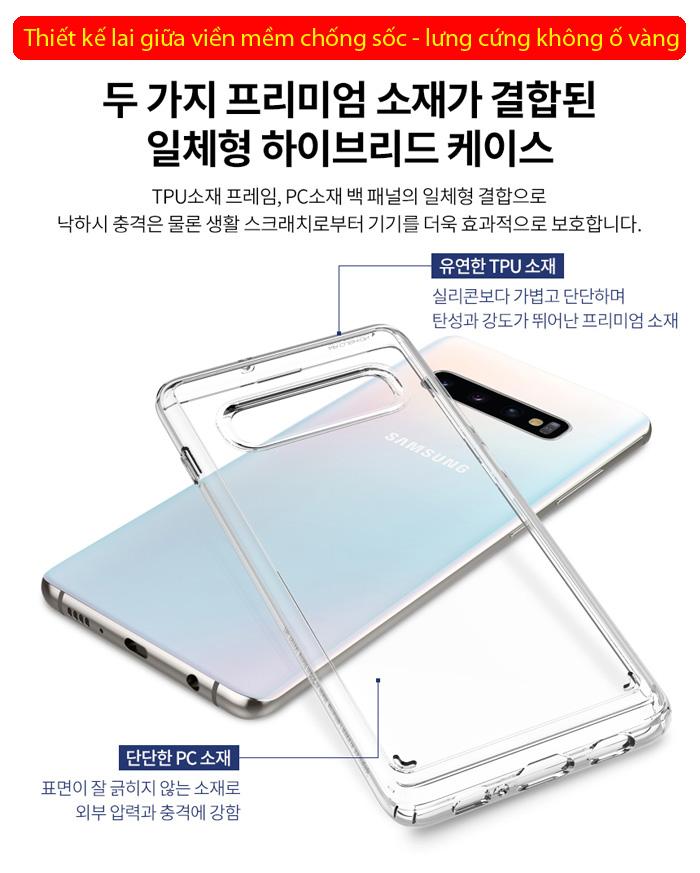 Ốp lưng Galaxy S10 Spigen Ultra Hybrid trong suốt ( Hàng USA ) 1