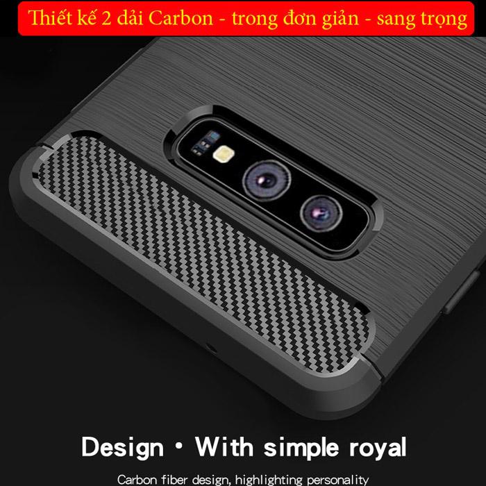 Ốp lưng Galaxy S10E Mofi Shen Du Carbon nhựa mềm - chống vân tay 1