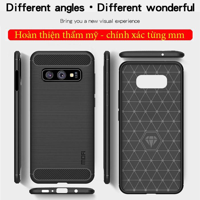 Ốp lưng Galaxy S10E Mofi Shen Du Carbon nhựa mềm - chống vân tay 4