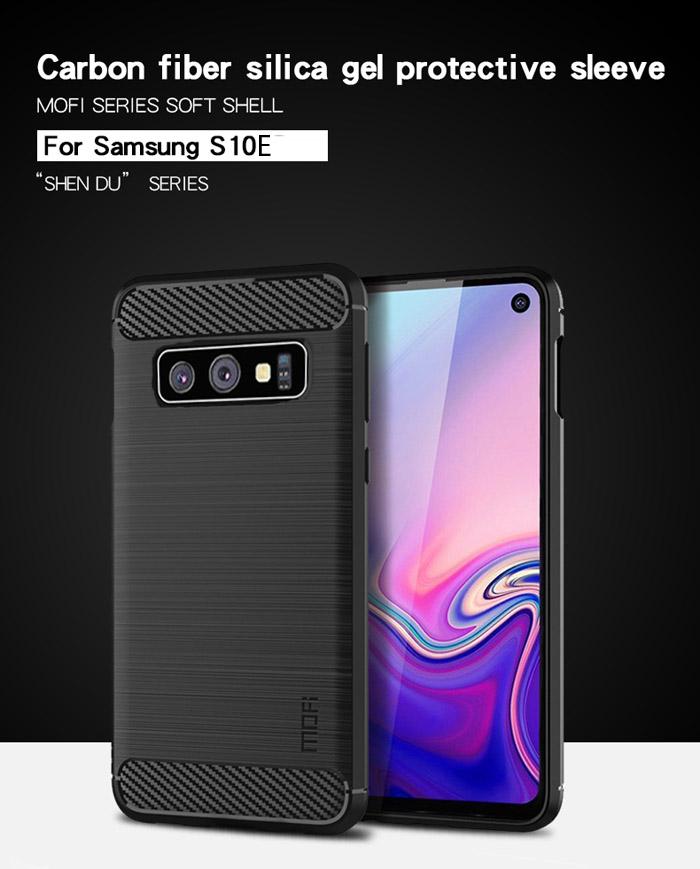 Ốp lưng Galaxy S10E Mofi Shen Du Carbon nhựa mềm - chống vân tay 5