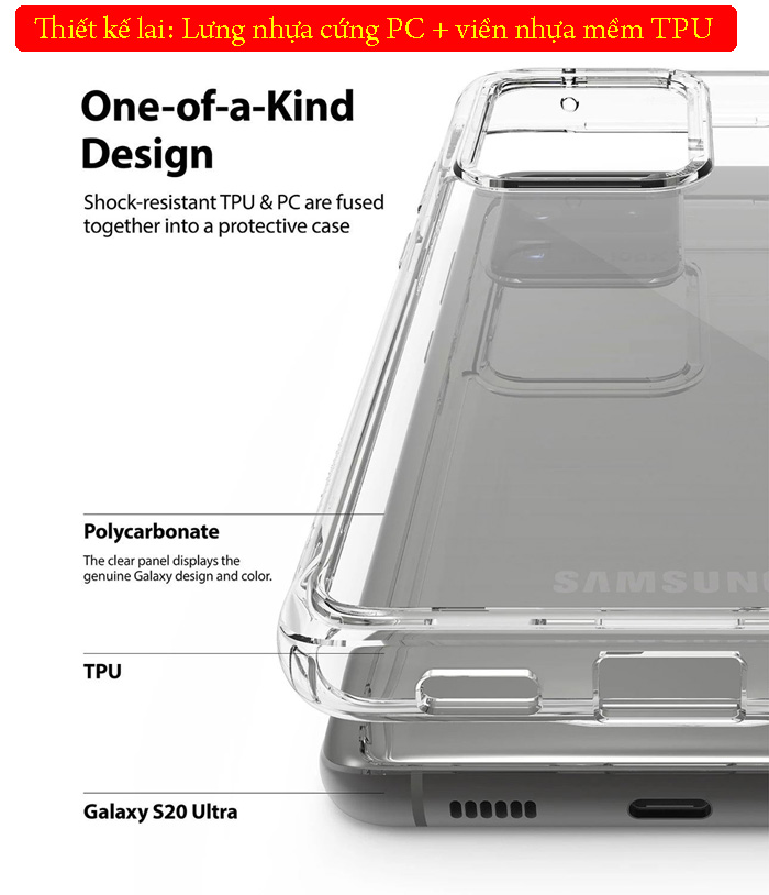 Ốp lưng Note 8 Ringke Fusion trong suốt + viền mềm ( USA ) 3