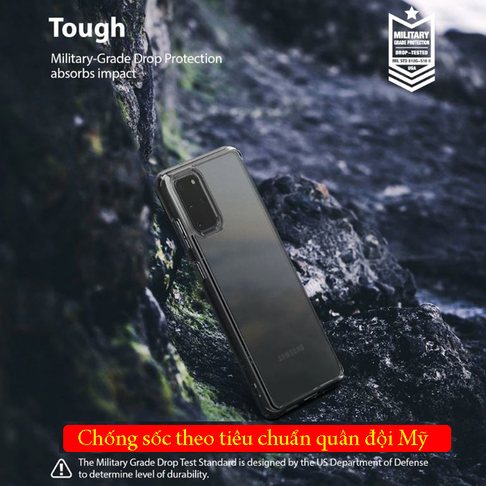 Ốp lưng Galaxy S20 Plus Ringke Fusion trong suốt + viền mềm ( USA ) 2