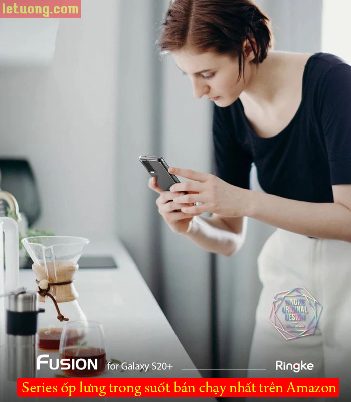 Ốp lưng Galaxy S20 Plus Ringke Fusion trong suốt + viền mềm ( USA ) 4