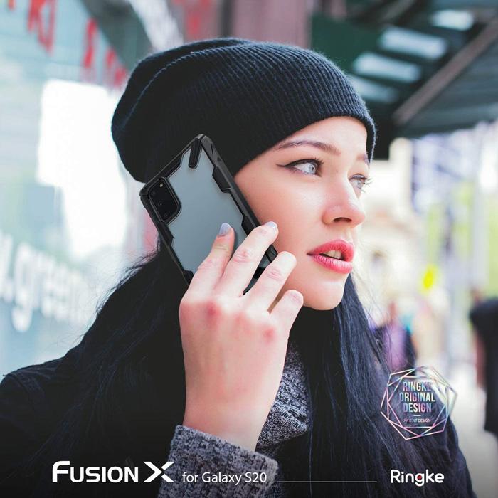 Ốp lưng Galaxy s20 Ringke Fusion X trong suốt chống sốc từ USA 3