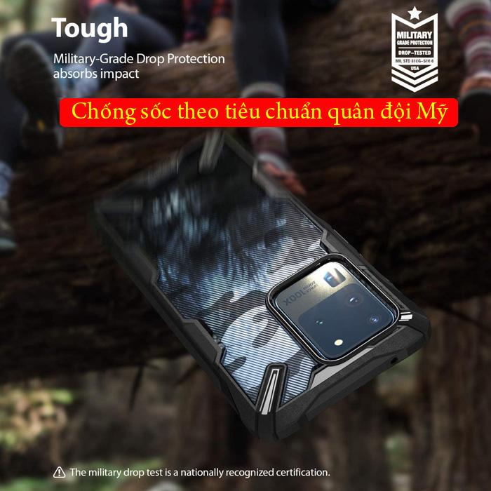 Ốp lưng Galaxy S20 Ultra Ringke Fusion X Camo chống sốc quân đội ( từ USA ) 2
