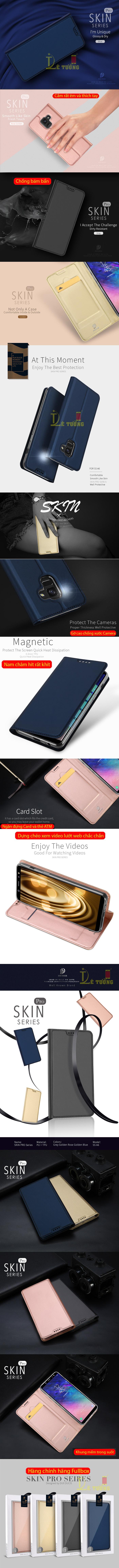 Bao da Galaxy A6 2018 Dux Ducis Skin siêu mỏng - khung mềm - mềm mịn 5