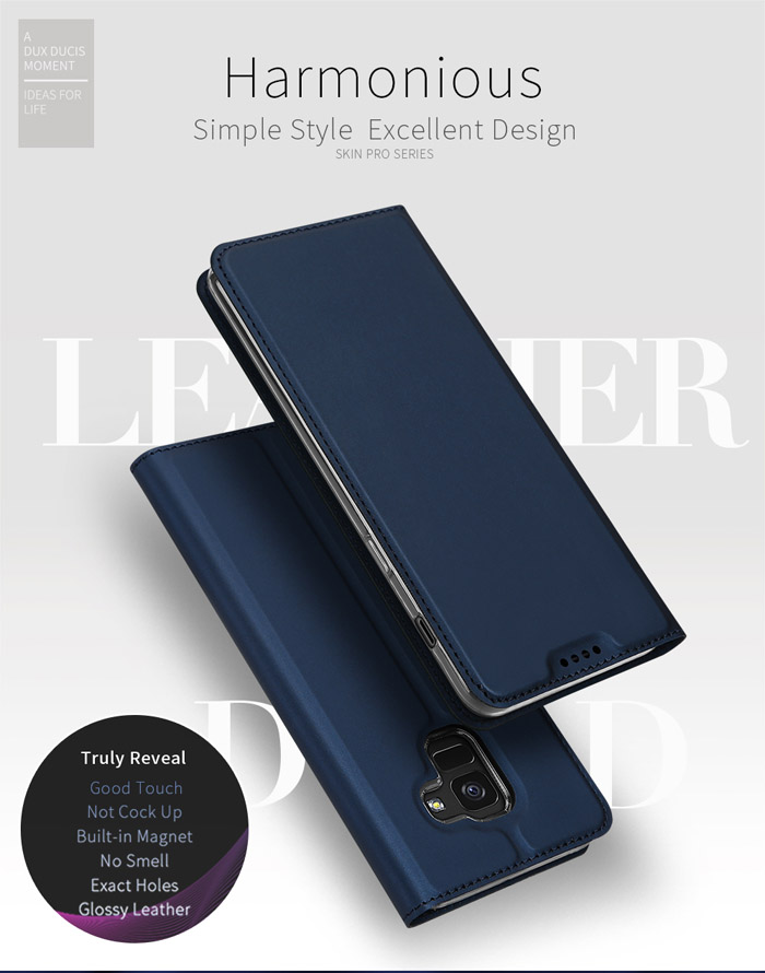 Bao da Galaxy A6 2018 Dux Ducis Skin siêu mỏng - khung mềm - mềm mịn 1