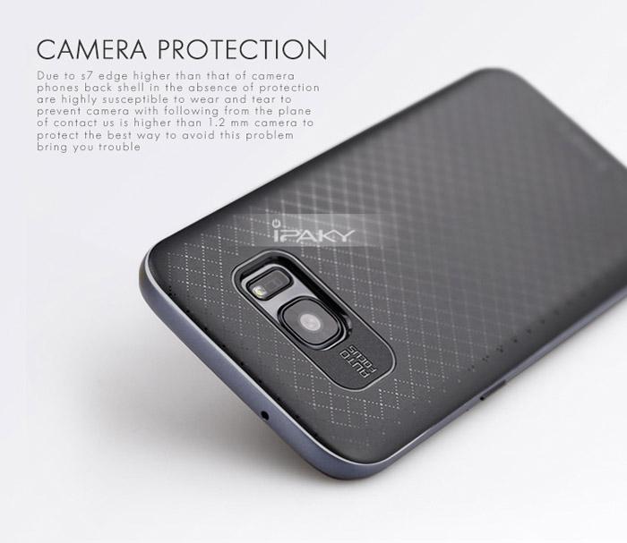 Ốp lưng Galaxy S7 Edge Ipaky Case 2 lớp lưng Caro tuyệt đẹp 1