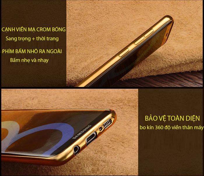 Ốp lưng Nokia 6 LT Leather Case viền mạ Crom bóng sang trọng 2