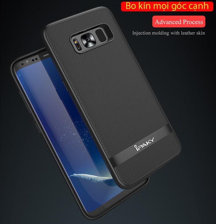 Ốp lưng Galaxy S8 Plus Ipaky Leather Skin Case chống vân tay 2