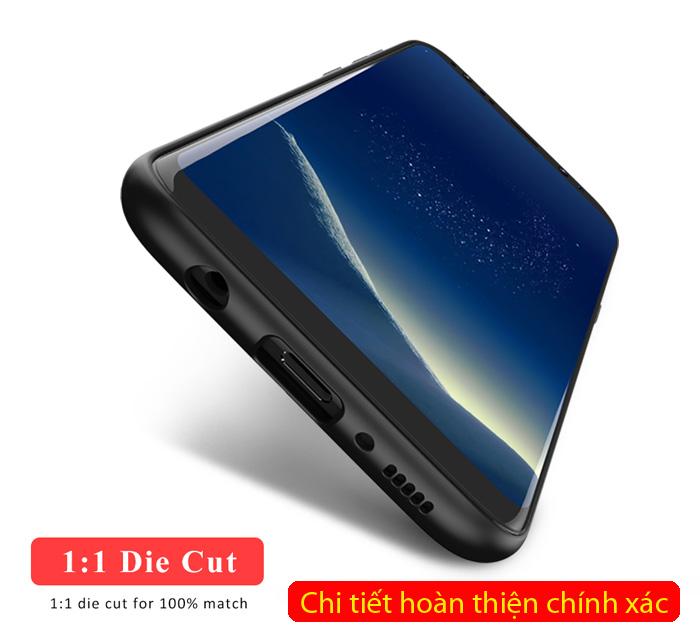 Ốp lưng Galaxy S8 Plus Ipaky Leather Skin Case chống vân tay 3