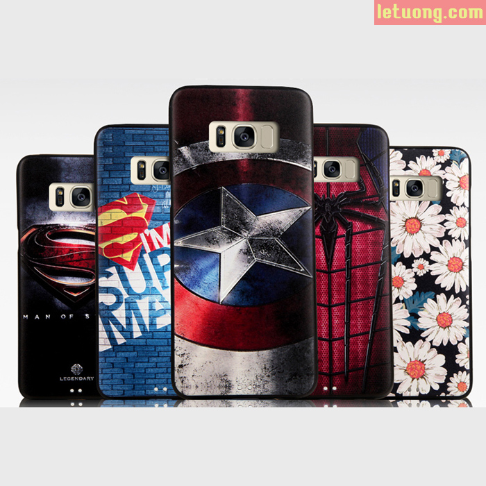 Ốp lưng Galaxy S8 Plus Mycolors Avengers dập nổi 3D nhựa mềm chống sốc 1