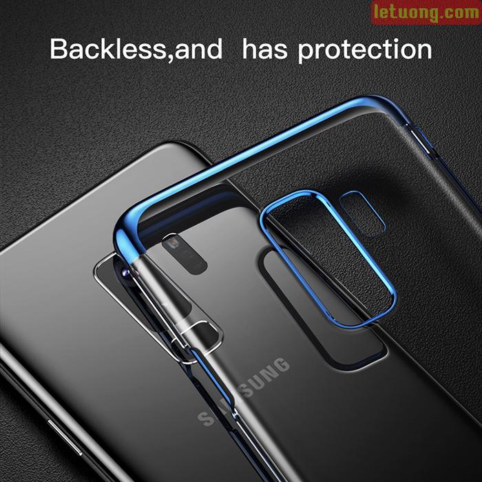 Ốp lưng Galaxy S9 Plus Baseus Glitter trong suốt viền crom sang trọng 2