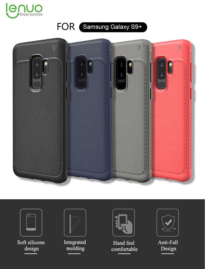 Ốp lưng Galaxy S9 Plus Lenuo Leshen Serie vân da sang trọng 1