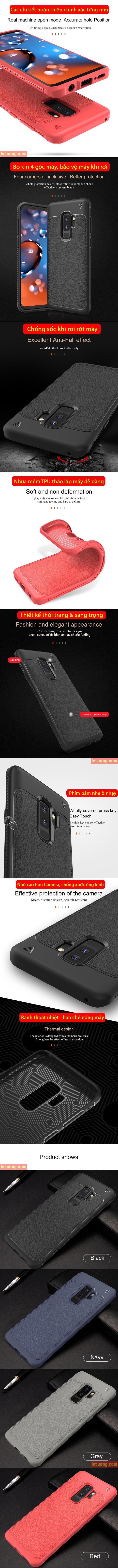 Ốp lưng Galaxy S9 Plus Lenuo Leshen Serie vân da sang trọng 4
