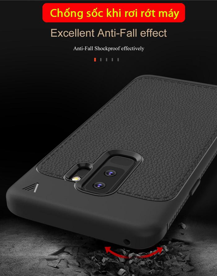 Ốp lưng Galaxy S9 Plus Lenuo Leshen Serie vân da sang trọng 3