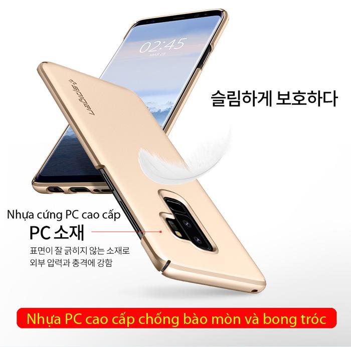 Ốp lưng Galaxy S9 Plus Spigen Thin Fit siêu mỏng nhẹ từ USA  2