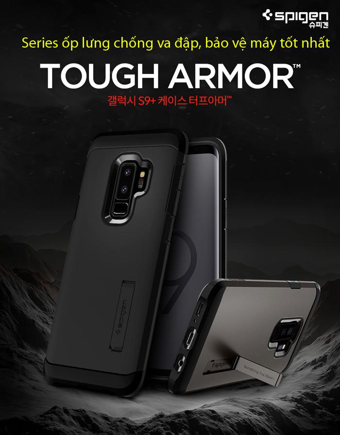Ốp lưng Galaxy S9 Plus Spigen Tough Armor chống va đập từ USA 1