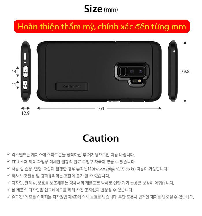 Ốp lưng Galaxy S9 Plus Spigen Tough Armor chống va đập từ USA 3
